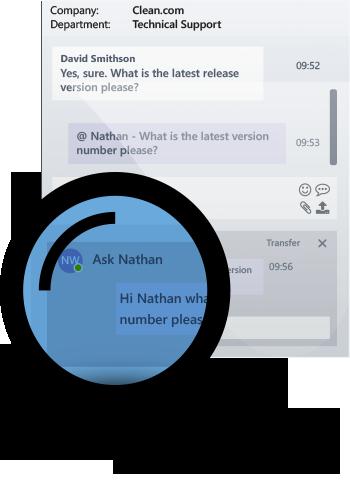 Internal chat