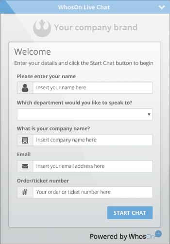 Pre-chat survey